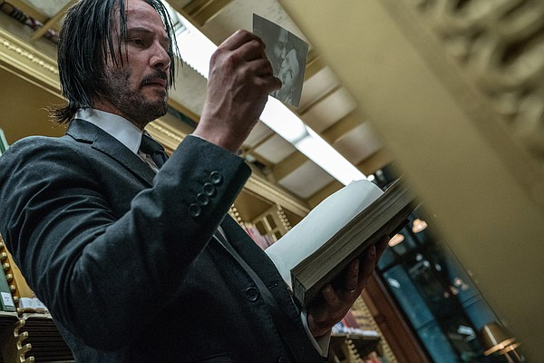 A reminder of the past for John Wick (Keanu Reeves) in