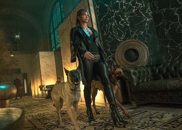 Sofia (Halle Berry) and her very impressive attack dogs i...