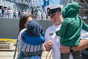 Navy Ships Return to San Diego Homeport After Middle East...