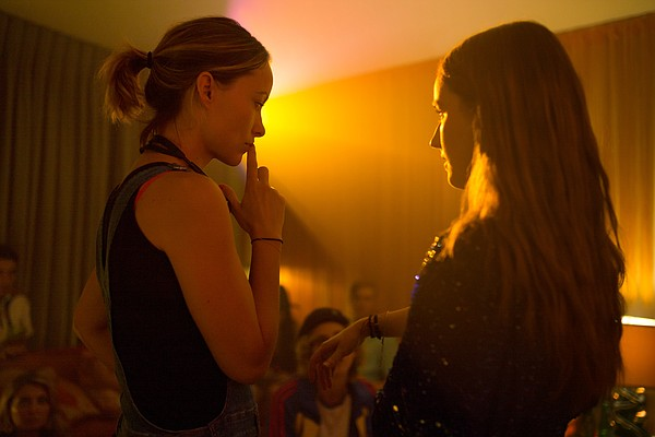 Director Olivia Wilde on the set of