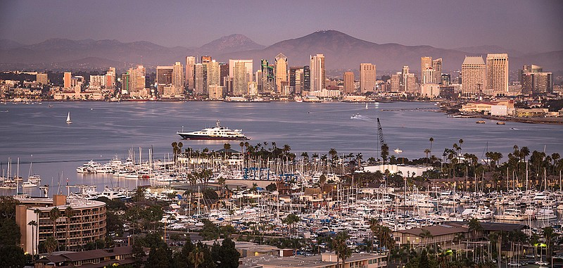 San Diego's skyline is shown in this undated photo.