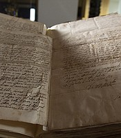 Galileo's Letter to Benedetto Castelli at The Royal Society. London, UK.