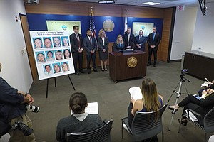 Photo for District Attorney Announces Charges For 11 Defendants In Alleged Charter Scho...