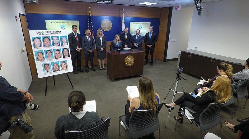 San Diego County District Attorney announces criminal charges against 11 peop...