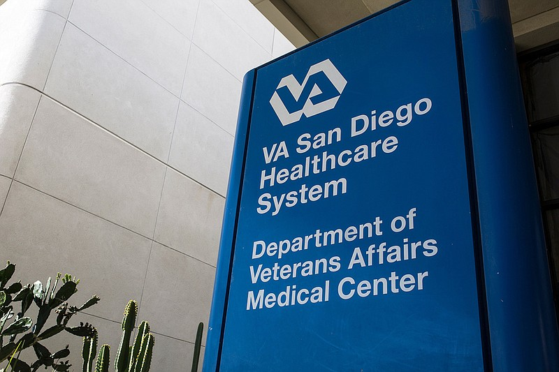 A sign at the San Diego VA is shown in this Nov. 15, 2018, photo.