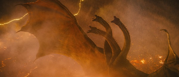 Ghidorah, the three-headed monster, makes his first U.S. ...