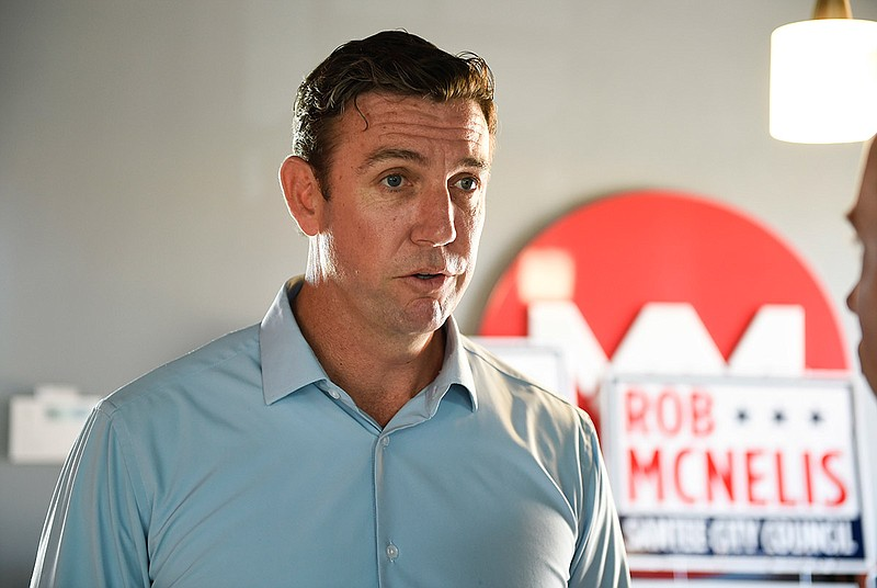 Rep. Duncan Hunter, R-Calif., speaks during an interview at a call center on ...