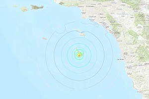 Trio Of Earthquakes Off Coast Felt in L.A., Riverside And...