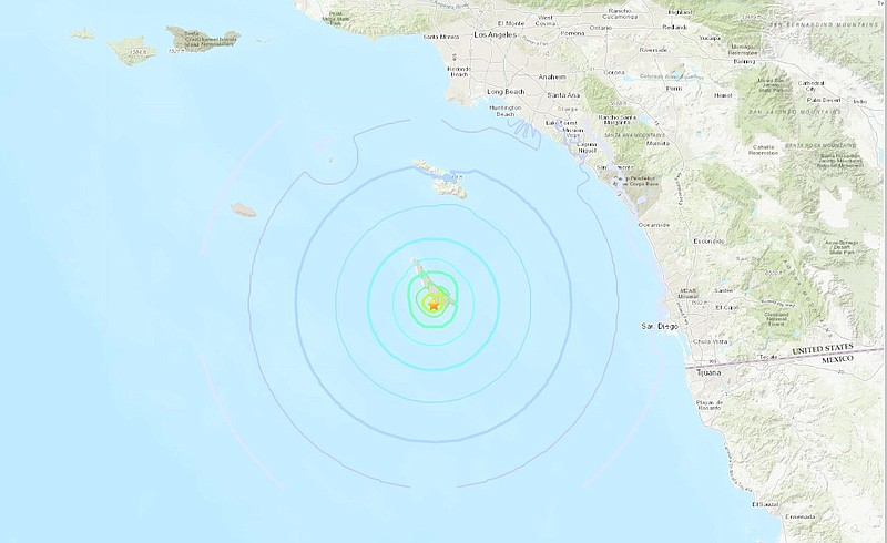 A magnitude-4.3 temblor struck just south of San Clemente Island at 3:47 a.m....