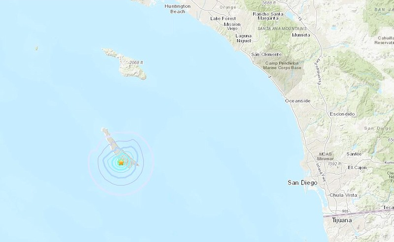 A 3.5-magnitude quake struck the southeastern tip of San Clemente Island on T...