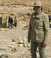 Main contributor Kathleen Martinez, who is searching for Cleopatra's lost tomb.