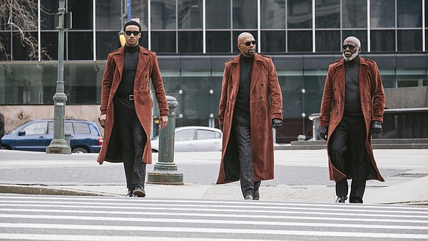 Three generations of Shaft: Junior (Jessie T. Usher), his...