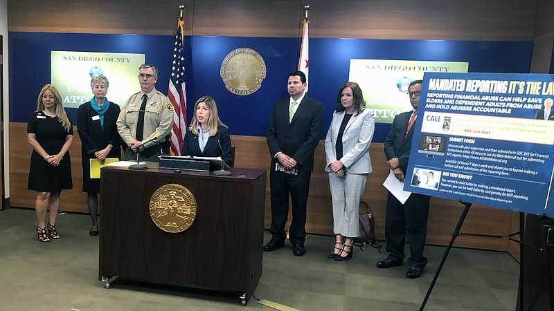 San Diego District Attorney Summer Stephan announces an outreach campaign to ...
