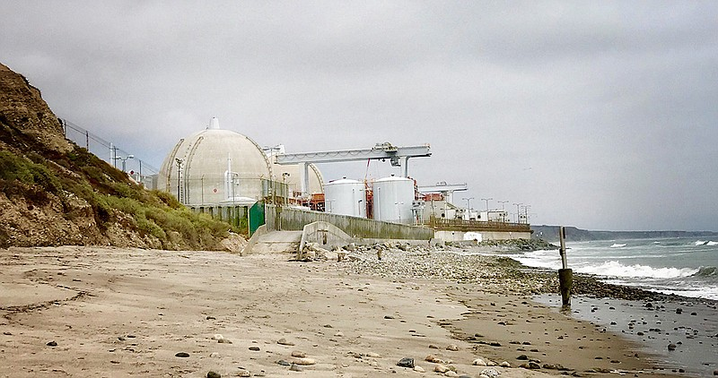 The San Onofre Nuclear Generating Station is pictured in this undated photo.