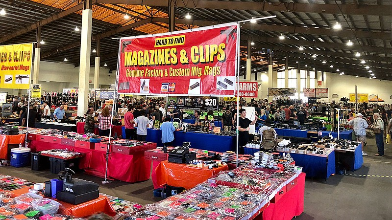 Inside the Crossroads of the West Gun Show at the Del Mar Fairgrounds, Sept. ...