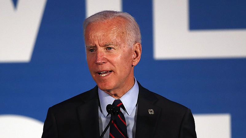 Democratic presidential candidate former Vice President Joe Biden told an aud...