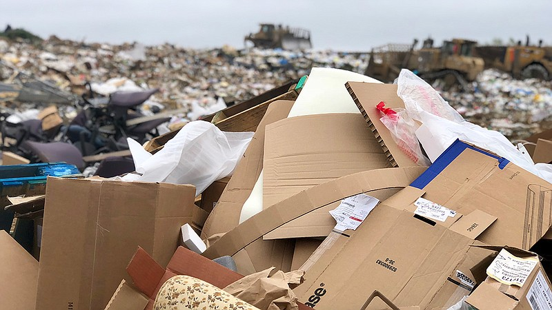 Trash piled up at the Miramar Landfill, June 24, 2019.