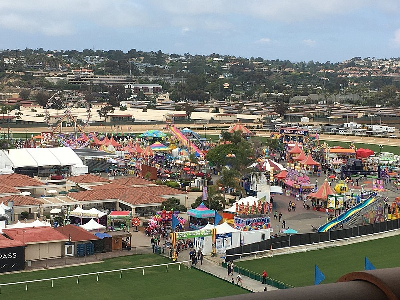 Aerial view of the San Diego County Fair, June 5, 2019.