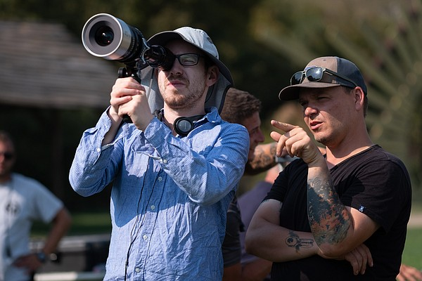 Director Ari Aster with cinematographer Pawel Pogorzelski...