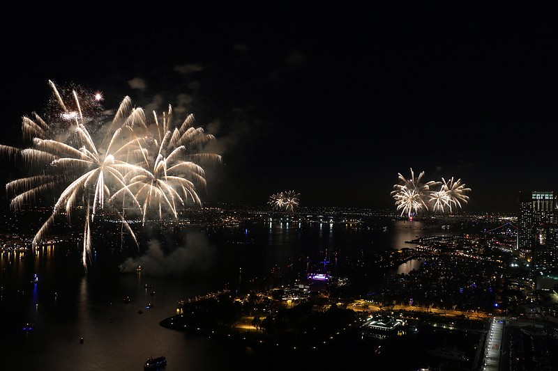 Fireworks over San Diego Bay in this undated photo.