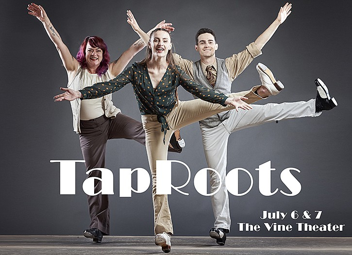 A 2019 poster for California Rhythm Project's TapRoots.