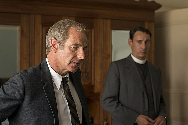 Left to right: Robson Green as Geordie Keating and Al Wea...