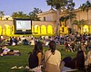A film plays at San Diego Museum of Art's Scree...