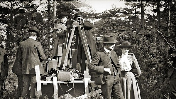 Filmmaker Alice Guy-Blaché (center) on the set of