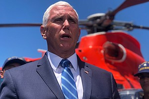 Photo for Vice President Mike Pence Visits Two San Diego Navy Bases