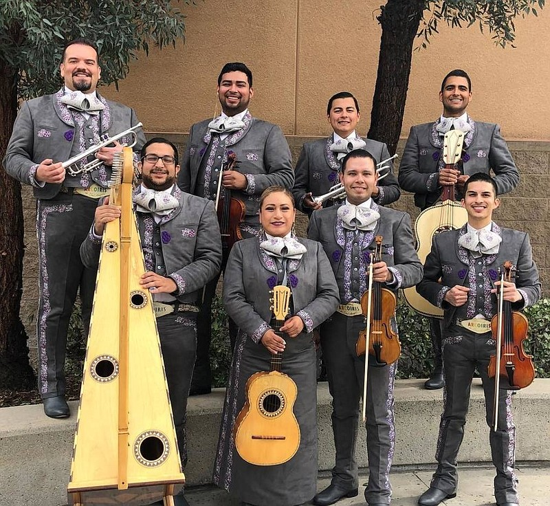 Band Members of Mariachi Arcoiris de Los Ángeles are pictured minutes before ...