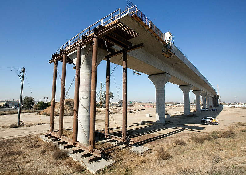 This Dec. 6, 2017, file photo shows one of the elevated sections of the high-...
