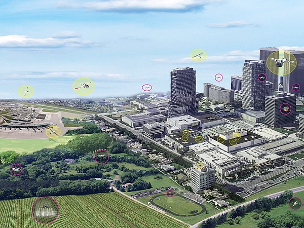 The concept of urban air mobility, which involves multipl...