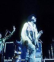 Sly and the Family Stone performing at the Woodstock Festival, Bethel, N.Y., Aug. 1969.