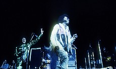 Sly and the Family Stone performing at the Wood...