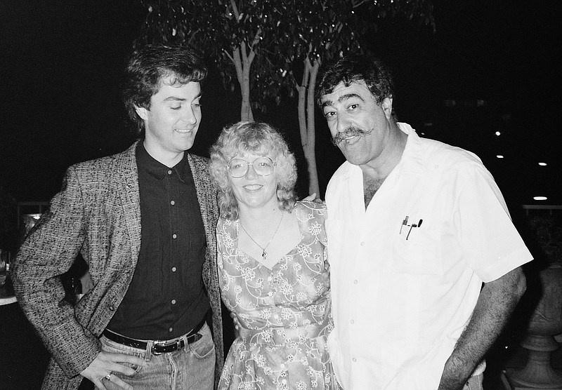 Jackie Estrada (center) with Sergio Aragones (left) from the 1989 Comic-Con I...