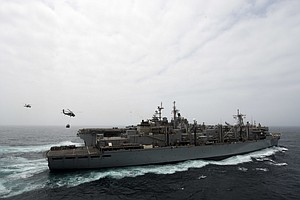 San Diego-Homeported USS Boxer Downs Iranian Drone In Str...