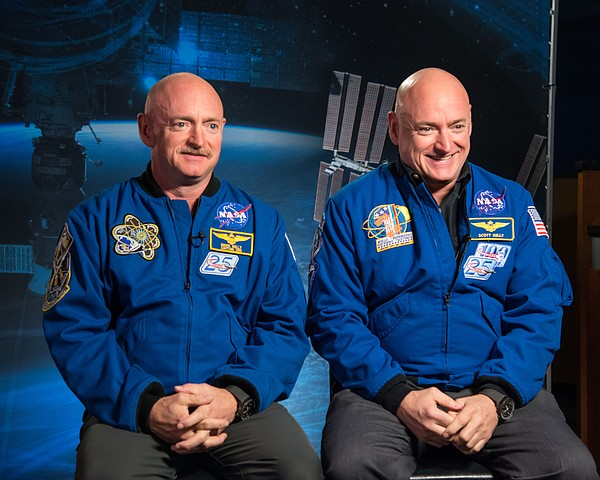Identical twins Scott Kelly and Mark Kelly, who participa...