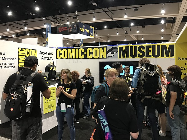 Comic-Con Museum had a booth on the floor to create aware...