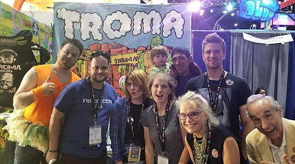 Patrica and Lloyd Kaufman (lower right) at the Troma Ente...
