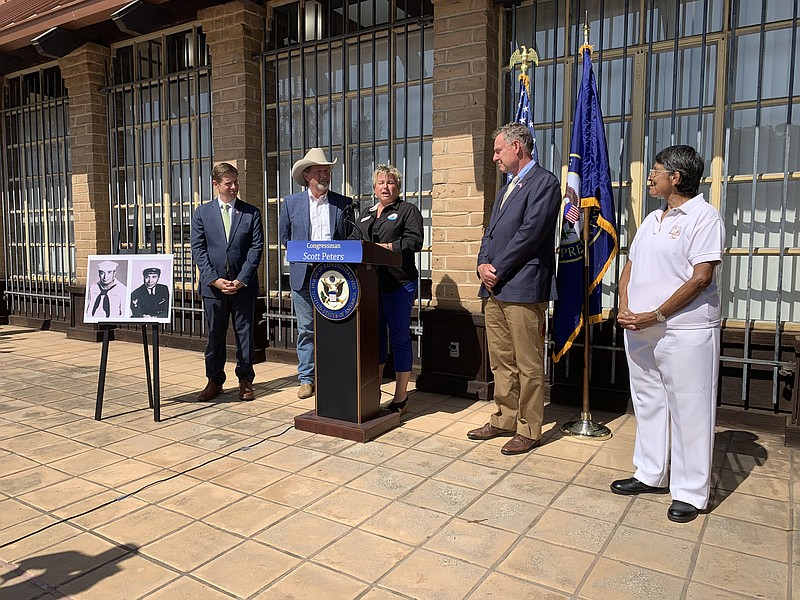 Congressman Scott Peters discusses bill to rename the Poway Post Office after...