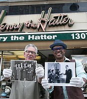 Host Thomas Allen Harris in Detroit with Paul Wasserman, the owner of America's oldest hat retailer - Henry the Hatter.