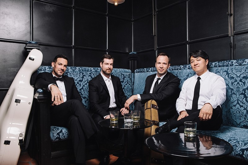 A promotional photo of Austin's The Miró Quartet .