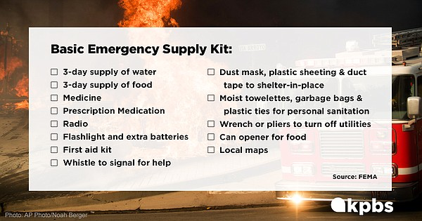 The FEMA emergency supply kit checklist is pictured in th...
