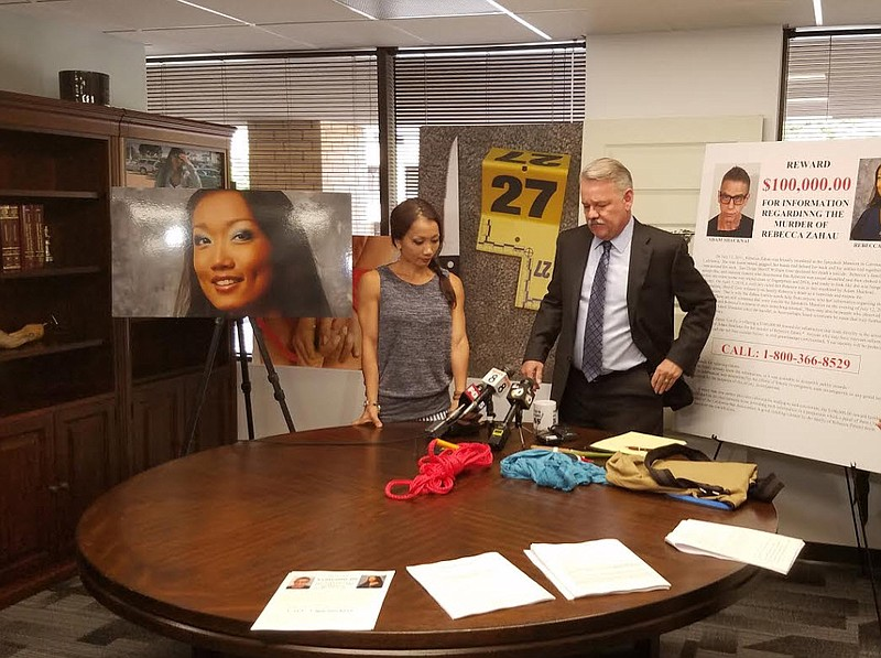 Keith Greer, the attorney for the family of Rebecca Zahau, addresses the medi...