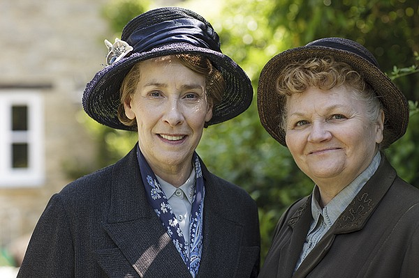 Phyllis Logan as Mrs. Hughes, Lesley Nicol as Mrs. Patmor...