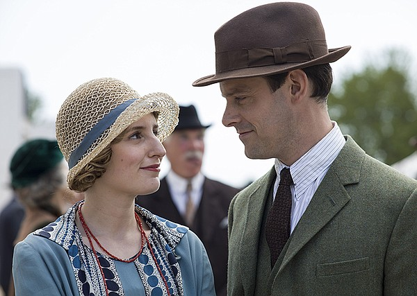 Laura Carmichael as Lady Edith and Harry Hadden-Paton as ...