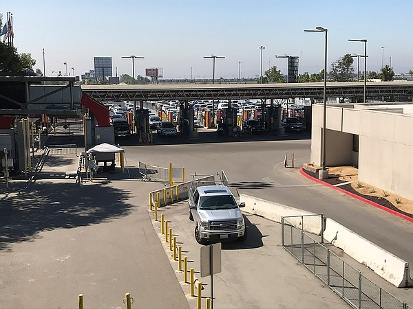 Cars enter the Otay Mesa Port of Entry, Aug. 15, 2019.