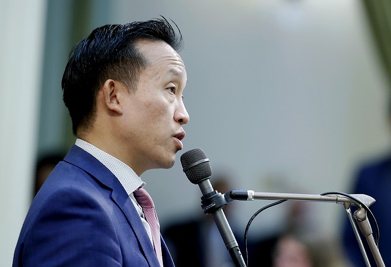 Assemblyman David Chiu, D-San Francisco, calls on lawmakers to approve his me...