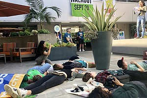 Photo for Climate Advocates Rally Outside Congressman Scott Peters' San Diego Office