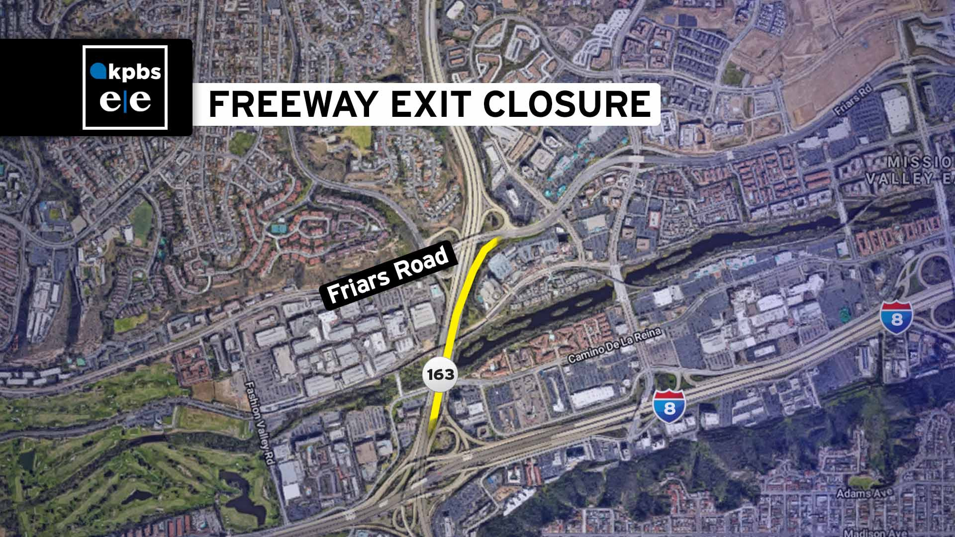 Caltrans Permanently Closing Northbound SR-163 Off-Ramp To Friars Road